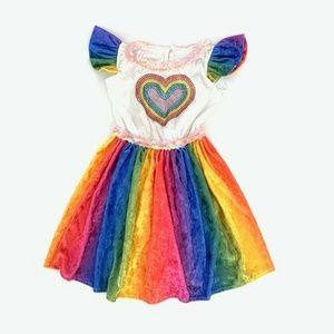 Chasing Fireflies Rainbow Pegasus Unicorn Dress